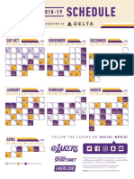 Lakers Schedule 2019-2020