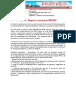 Registro y Control de RESPEL TLLER 4