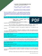 IPVA- BA Lei Nº 6.348, De 17 de Dezembro de 1991