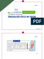 Diseño de Indicadores, Seguimiento y Mejora Continua (Resolución 0312 de 2019)