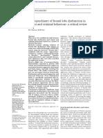 Brower - Neuropsychiatry of Frontal Lobe Dysfunction