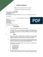 Contrato de Transporte - Paragsha