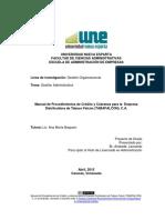 Érika, F y Evelyn, P. (2012), Diseño de los manuales de procedimientos para las áreas de compras y ventas de mercaderías de la distribuidora aj.
