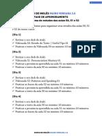 Cronograma de Estudos Das Aulas 50, 51 e 52