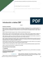 Introducción a Tablas DBF