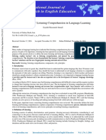 the importance of listening comprehension