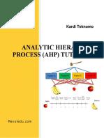 AHP Tutorial by Kardi Teknomo