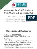 Lipid Guidelines 2018