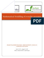 Mathematical Modelling of a milk delivery system
