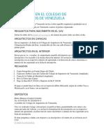 Inscríbete en El Colegio de Arquitectos de Venezuela