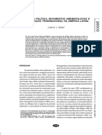 Ecologia política, movimentos ambientalistas e contestação transnacional na América Latina