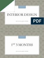 Interior Design course break down