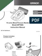 Omron Blood pressure monitorBP786N
