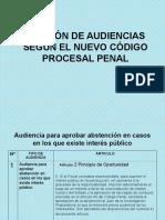 Audiencias en El Nuevo Codigo Procesal Penal
