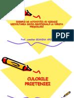 Exemple de Activitati Ce Vizeaza Dezvoltarea Socio Emotionala La Prescolari