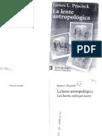 La lente antropológica Peackoc Cap 1