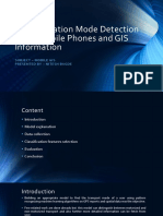 Transportation Mode Detection Using Mobile Phones and GIS Information