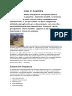 Empresas Mineras en Argentina
