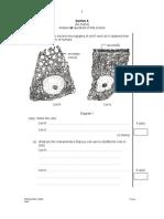 SPM Mid Year 2008 SBP Biology Paper 2