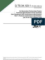 3GPP TS 34.123 Protocol Conformance Specification