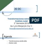 Transformación Delta- Estrella , análisis nodal