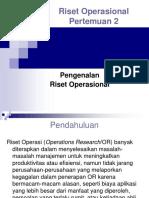 Ro 2 Pengenalan Riset Operasional1