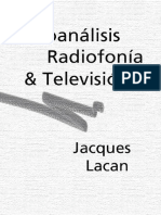 Lacan Jacques Psicoanalisis Radiofonia Television