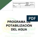 Programa de Potabilizacion de Agua