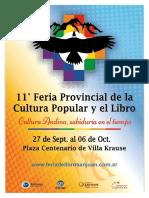 Cronograma de la Feria del Libro