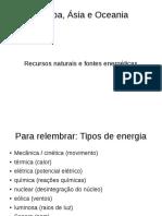 Recursos naturais e fontes energéticas 9ºano