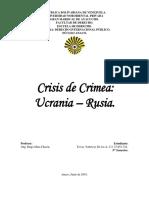 Ensayo Crisis Ucrania-Rusia