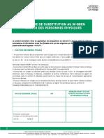 FATCA Formulaire de Subtitution Au W8 BE Fr