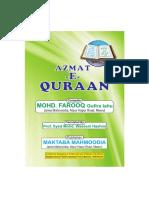 Azmat Quran English