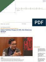 Jokowi Terbitkan Perppu UU KPK, Aksi Mahasiswa Berhenti