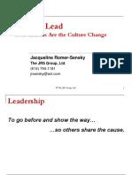Role of Leadership in Organizational Culture Change Final.jacqui Romer-sensky