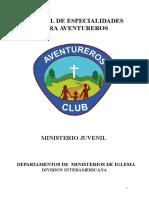 Manual de especialidades aventureros División Interamericana