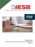 Hidráulica Uia 1 Conceitos Fundamentais e Condutos Forçados (Parte 1) - PDF