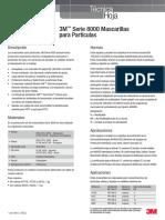 3m Serie 8000 Mascarillas Technical Datasheets