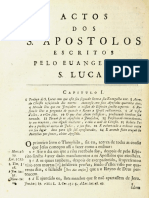 Novo Testamento Almeida 1693 - Atos Dos Apóstolos