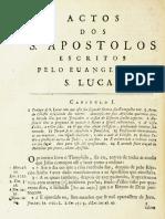 Novo Testamento Almeida 1693 - Atos Dos Apóstolos (Do Capítulo I Até O Capítulo XIV)