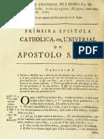 Novo Testamento Almeida 1693 - As Três Epístolas Universais de João, A Epístola Universal de Judas E O Apocalipse (Revelação) de João