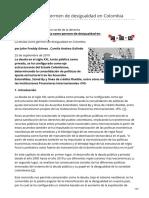 John Freddy Gómez , Camila Andrea Galindo- La Deuda Como Germen de Desigualdad en Colombia