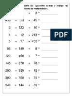 sumas verticales
