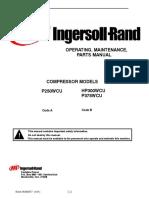 Manual de Operación Mantenimiento y Partes P375WCU P250WCU
