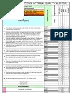 Matriks Kompetensi Internal Quality Auditor
