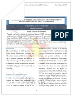 Analysing the Merits and Demerits of Constituency Development Fund Cdf in Zimbabwe
