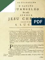 Novo Testamento Almeida 1693 - Evangelho de Lucas (Do Capítulo I Até O Capítulo XI)