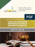 Tarifa Honorarios 2018 - CCNA