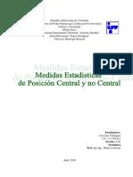 Medidas Estadísticas de Posición Central
