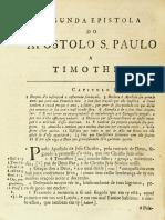 Novo Testamento Almeida 1693 - Segunta Epístola de Paulo a Timóteo